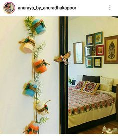 22 Ideas Garden House Brick Living Rooms For 2019 Indian Bedroom Decor, Ethnic Home Decor, Indian Home Decor, Diy Room Decor, Living Room Decor, Living Rooms, D House, Home Decor Furniture, Home Interior