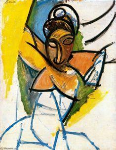 Acheter Tableau 'femme' de Pablo Picasso - Achat d'une reproduction sur toile peinte à la main , Reproduction peinture, copie de tableau, reproduction d'oeuvres d'art sur toile