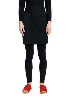 Rock Noppenjersey von LiNUSCHdesign auf Etsy Leggings, Rock, Black Jeans, Pants, Etsy, Fashion, Loose Pants, Black, Trouser Pants