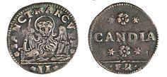NumisBids: Numismatica Varesi s.a.s. Auction 67, Lot 448 : - MONETAZIONE ANONIMA PER CANDIA (1643) Gazzetta da 2 Soldi s.d.,...