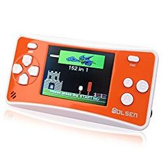 """LCD Portable Game Console SpeakerWOLSEN 2.5"""" LCD Portable Game Console Speaker (Blue + White) (3 X AAA) 152 in 1 Games   #Batteries #Video"""