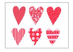 6 Hearts by hailey parnell, via Flickr