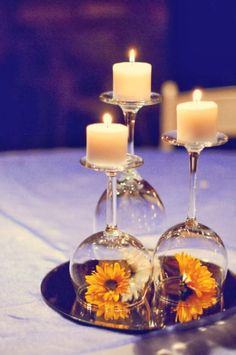 DIY Simple Centerpiece for Weddings