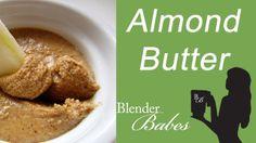 Fresh Organic Almond Butter. @BlenderBabes www.blenderbabes.com #vitamix #blendtec #recipe #almond #butter