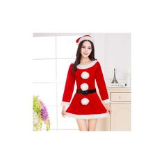 Christmas Costumes Sexy Fancy Red Dress Cosplay Costumes For Women ($13) ❤ liked on Polyvore featuring costumes, red, christmas party costume, cosplay costumes, sexy halloween costumes, sexy cosplay costumes and sexy role play costumes