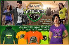 Fishing, deer hunting, hiking, kayaking clothing and apparel. https://teespring.com/stores/outdoorsman-outlet