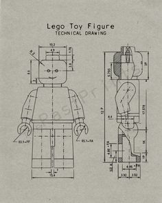 Lego man art print lego minifigure typical blueprint technical lego printable lego figure techincal drawing lego art lego print lego poster lego drawing lego decor blueprint kids gift malvernweather Choice Image