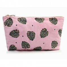 Ideally sized to fit in your handbag or to use as an evening clutch, you'll love this Elizabeth Scarlett Jungle Leaf Rose Shadow Velvet Travel Pouch Wash Bag. Made from beautiful rose pink coloured velvet, it has PU waterproof lining, gold zip an Hand Illustration, Wash Bags, Beautiful Roses, Pink Roses, Coin Purse, Pouch, Velvet, Green, Monstera Leaves