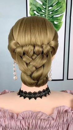 #hairstyle #hairstyletutorial #foryou #beautiful Short Hair Makeup, Hairdo For Long Hair, Bun Hairstyles For Long Hair, Braided Hairstyles, Hairstyles For Girls, Trendy Hairstyles, Medium Hair Styles, Long Hair Styles, Hair Braiding Styles