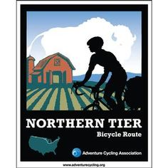 Want to bike from Maine to Washington? Take our Northern Tier Route! We have the maps for you. #adventurecycling #acaNoTier #travelbybike