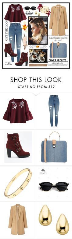 """""""Coffe"""" by vellfe ❤ liked on Polyvore featuring River Island, New Look, Diesel, Cartier, Miss Selfridge and fashionset"""