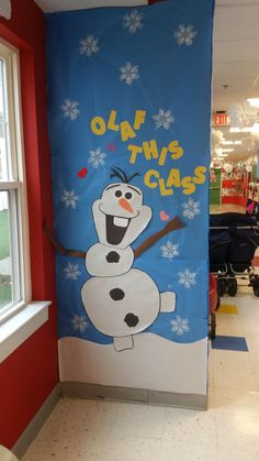 "Play & Learn Abington, PA   ""Olaf Play & Learn"" - Winter Wonderland Hallway and Door Decorations."