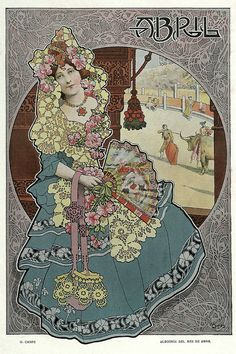 All sizes | 004-Alegoria del mes de Abril- Gaspar Camps-Revista Álbum Salón-Enero de 1901 -Hemeroteca de la Biblioteca Nacional de España, via Flickr.