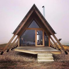 Untold adventures on the outside. Cozy on the inside. Live the glamping life in . - Home - Abenteuerreisen A Frame Cabin, A Frame House, Tiny House Cabin, Tiny House Design, Cabin Plans, Shed Plans, Woodworking Projects Plans, Diy Woodworking, Woodworking Machinery