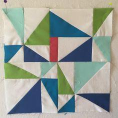 The Zen Quilter: New Blogger's New Block Blog Hop Tutorial - Mod Pinwheels
