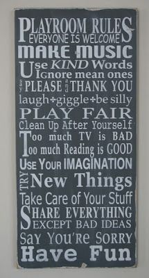 Rules--not just for playrooms