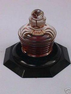 Vintage Guerlain VEGA Baccarat Perfume Bottle w Box