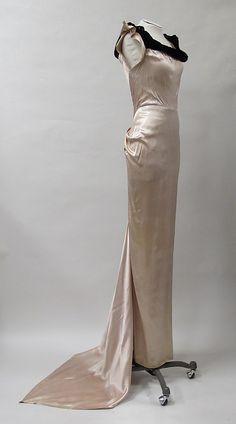 Evening dress - mid 1930s - American - silk by Charles James (American, born Great Britain) Metropolitan Museum of Art