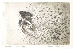 Autumn by Marina Terauds, etching