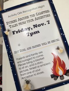 Activity Days: Stories Around the Campfire – Recognition Activity (Family History)