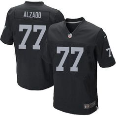 ddc076b18 Lyle Alzado Men's Elite Black Jersey: Nike NFL Oakland Raiders Home #77 Nike  Elites