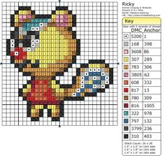 Ricky Animal Crossing Perler Bead Pattern