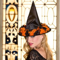 Witch costumes are super easy DIY Halloween projects, and we've just made them even easier. Try this Unbelievable No Crochet Witch Hat that doesn't even require hooks. | AllFreeCrochet.com