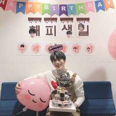 """"""" Thank you for the early happy birthday from the Inkigayo Fam and Naeun and Minhyuk! Johnny hyung Happy Birthday to you too """" """" Translation: Alex. Nct 127, Jaehyun Nct, Happy Birthday To Us, 2nd Birthday, Taeyong, Fandom, Valentines For Boys, Jung Jaehyun, Kpop Boy"""