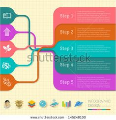 Modern flat design minimal infographic structure vector template. by Mushakesa, via Shutterstock
