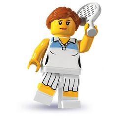 LEGO Minifigures - Tennis Player (firestartoys, 2013)