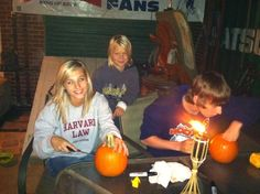 Pumpkin carving fun!