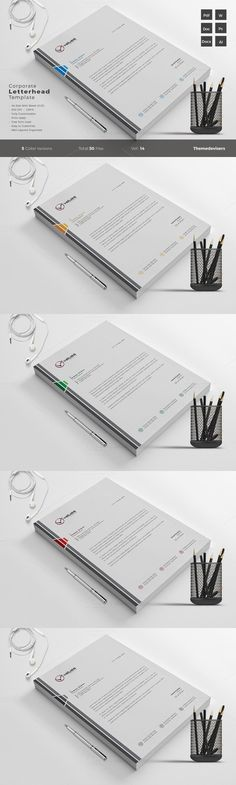 Corporate Letterhead Template-V05 Stationery Templates - corporate letterhead template