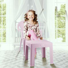 Rattan Çocuk Koltuğu ve Sehpası / Rattan Kid Seat and Tea Table