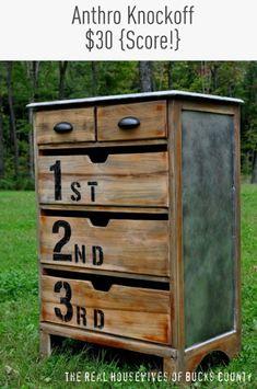 Anthro Ordinal Dresser {Knock Off Style}  - 32 Brilliant DIY Anthropologie Knockoffs