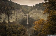 AARP list of quirky places where you can retire- the Taughannock Falls near Ithaca, New York