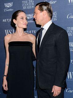 Angelina Jolie and Brad Pitt at the WSJ. Magazine 2015 Innovator Awards at MoMA in New York City on November 4, 2015