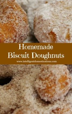 How to make Biscuit Donuts. How to make doughnuts using canned biscuits. Easy directions for making doughnuts with canned biscuits. Easy Homemade Desserts, Delicious Desserts, Dessert Recipes, Yummy Food, Easy Cheap Desserts, Breakfast Recipes, Icing Recipes, Creative Desserts, Recipes Dinner