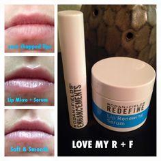 Lip Microdermabrasion and Lip Renewing Serum. Rodan And Fields Redefine, Chapped Lips, Hair Beauty, Beauty Stuff, Good Skin, Serum, Lipstick, Skin Care, My Love