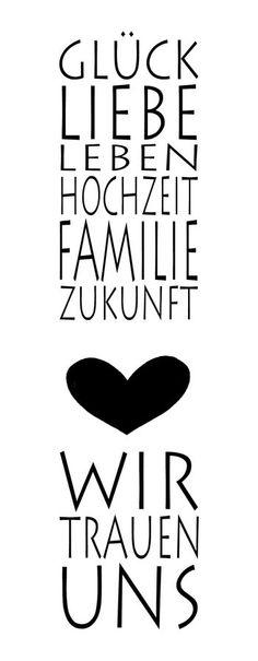 """Stempel """"Wir trauen uns"""" Glück Liebe Leben Hochzeit Familie..."""
