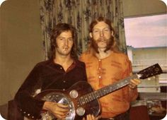 Eric Clapton and Duane Allman with Dobro Resonator Guitar.