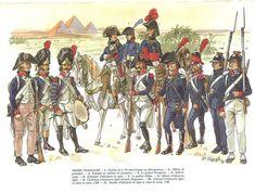 Uniformes de l'armée française durant la  campagne d'Egypte - Uniforms of the french army during Napoleon's egyptian campaign.
