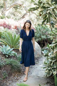 the poppy tea dress in indigo — Kara Thoms