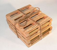 Pallet coasters by Casasempere on Etsy
