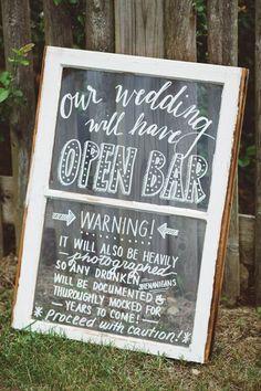rustic vintage wedding sign ideas