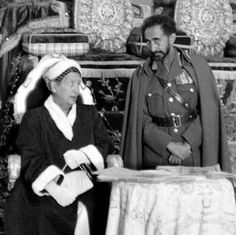 """The Royal Couple. """"If you are open-minded and ready to learn, there are many things which you can learn not only from books and instructores but form the very life experience itself."""" Kedamawi Hayl Selasse (Haile Selassie I) Ethiopian People, Bob Marley Pictures, Royal Priesthood, Jah Rastafari, Black King And Queen, Haile Selassie, African Royalty, Lion Of Judah, Abyssinian"""