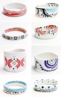 Handmade porcelain bangles by The Awesome Project