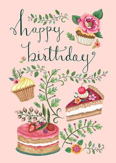 Happy Birthday Greetings Friends, Happy Birthday Art, Birthday Blessings, Happy Birthday Messages, Happy Birthday Images, Birthday Greeting Cards, Birthday Quotes, Happy Birthday Calligraphy, Birthday Frames
