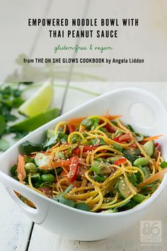 The Oh She Glows Cookbook Review, Giveaway   Empowered Noodle Bowl (vegan, gf)