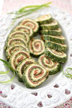Rolada szpinakowa z łososiem Savoury Cake, Avocado Toast, Cucumber, Sushi, Food And Drink, Snacks, Dinner, Vegetables, Cooking