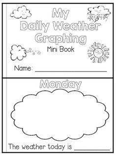 Flying into First Grade: Weather book freebie - Use this mini weather book to…
